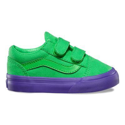 Vans Toddlers Vans Cosplay Old Skool V (green/purple)