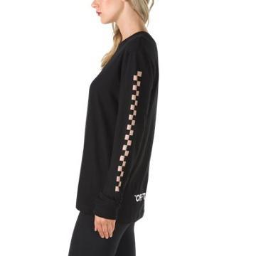 Vans Oversized Checker Long Sleeve T-shirt (black)