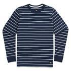 Vans Boys Milton Stripe Long Sleeve T-shirt (dress Blues)