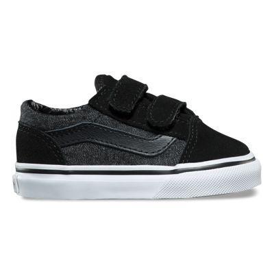 Vans Toddler Suede & Suiting Old Skool V (black)