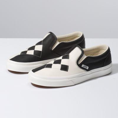 Vans Woven Leather Slip-on (checkerboard/snow White)