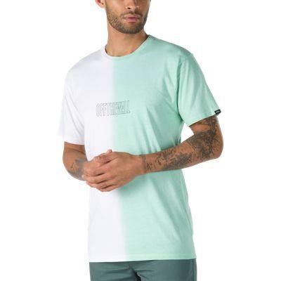Vans Split Dye T-shirt (white/mist Green)