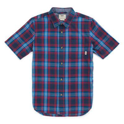 Vans Boys Hollington Buttondown Shirt (dress Blues)