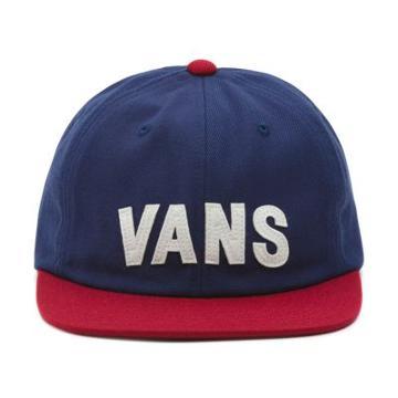 Vans Tag Unstructured Hat (dress Blues-rhubarb)