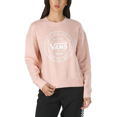 Vans Circled Vans Crew Sweatshirt (rose Cloud Heather)