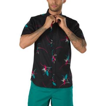 Vans Shade Short Sleeve Buttondown Shirt (black Open Shade Floral)