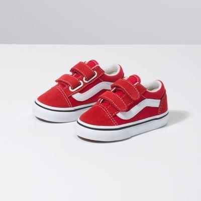 Vans Toddler Old Skool V (racing Red/true White)