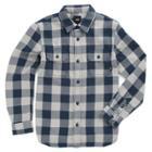 Vans Boys Wisner Flannel Shirt (dress Blues)
