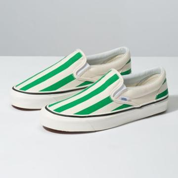 Vans Anaheim Factory Slip-on 98 Dx (og White/og Emerald/big Stripes)