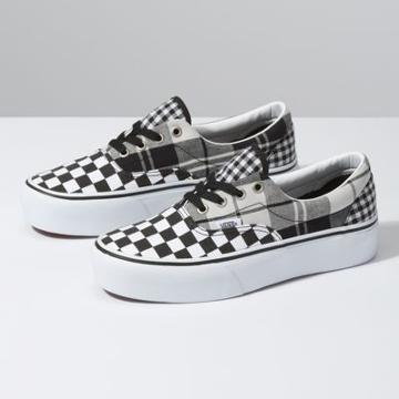 Vans Plaid Checkerboard Era Platform (black/true White)