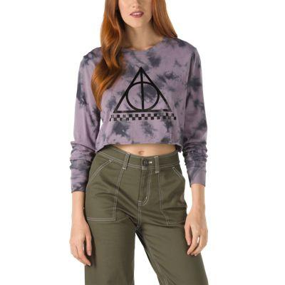 Vans X Harry Potter™ Long Sleeve Crop Tee (deathly Hallows/tie Dye)