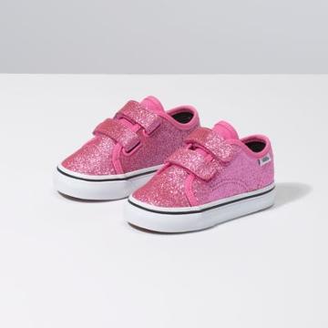 Vans Toddler Glitter Style 23 V (azalea Pink/true White)