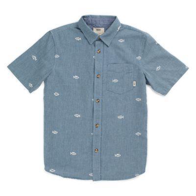 Vans Boys Houser Buttondown Shirt (dress Blues Washed Up)