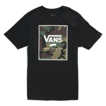 Vans Boys Print Box T-shirt (black/camo)