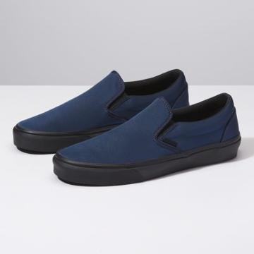 Vans Metallic Twill Classic Slip-on (dress Blues/black)