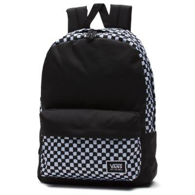 47a9a75a71 Vans Realm Classic Backpack (diy Checkerboard) | LookMazing