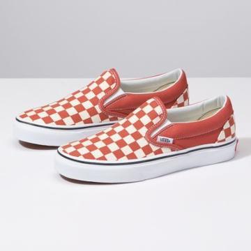 Vans Checkerboard Classic Slip-on (hot Sauce/true White)