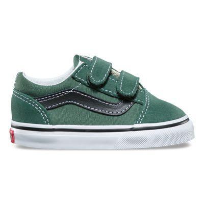 Vans Toddler Old Skool V (duck Green/black)