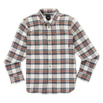 Vans Boys Banfield Flannel Shirt (natural Sequoia)