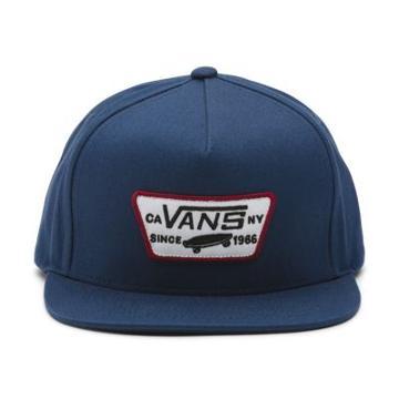 Vans Full Patch Snapback Hat (dress Blues-rhubarb)