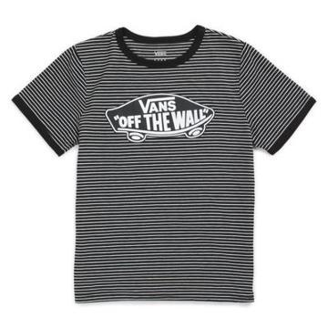 Vans Striped Otw Ringer Tee (black White)