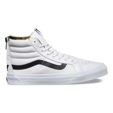 Vans Plaid Flannel Sk8-hi Slim Zip (true White/black)