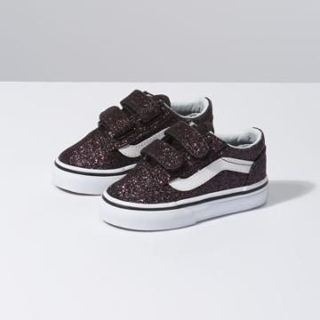 Vans Toddler Glitter Stars Old Skool V (black/true White)