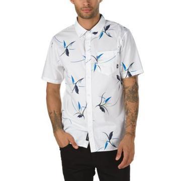 Vans Shade Short Sleeve Buttondown Shirt (white Open Shade Floral)