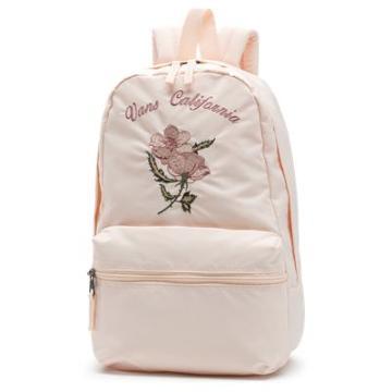 Vans Souvenir Satin Embroidery Backpack (soft Pink)