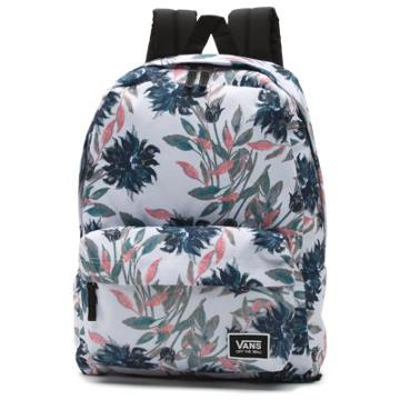 Vans Realm Classic Backpack (white Dahlia)