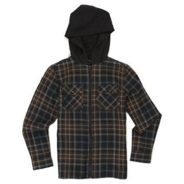 Vans Boys Higgins Shirt (black Demitasse)