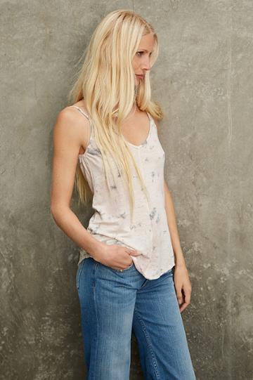 Velvet Clothing Daffodil Linen Knit Tank-tiedye--kirstyhume