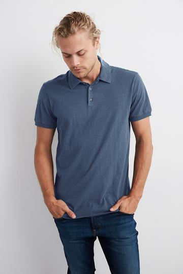 Velvet Men Randall Cotton Slub Polo-chisel-slub