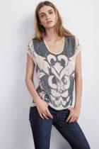 Velvet Clothing Antonina Sequin Top -cameo-sequincrepe