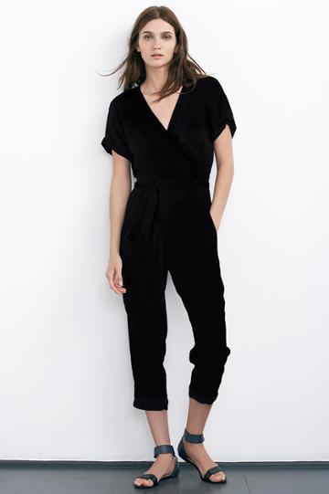 Velvet Clothing Hyla Rayon Challis Jumpsuit-black-challis