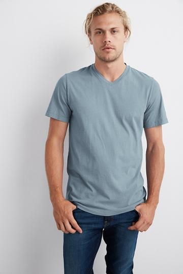 Velvet Men Samsen Whisper Classic V-neck Tee-chisel-whisper