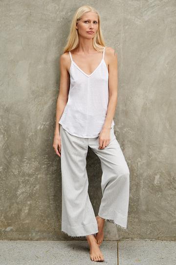 Velvet Clothing Daffodil Linen Knit Tank-white-kirstyhume