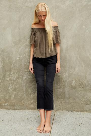Velvet Clothing Begonia Cotton Gauze Off The Shoulder Top-caper-kirstyhume