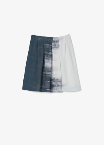 Vince Dry Brush Print Skirt