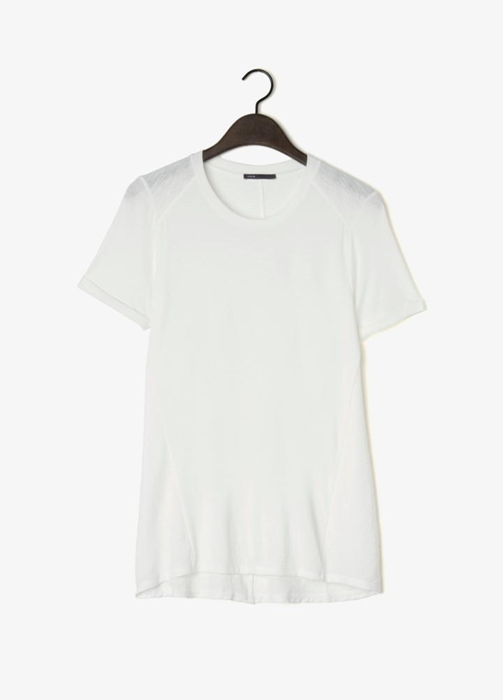 Vince Texture Blocked Short Sleeve Tee