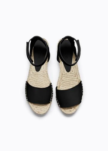 Vince Edie Leather Espadrille Platform