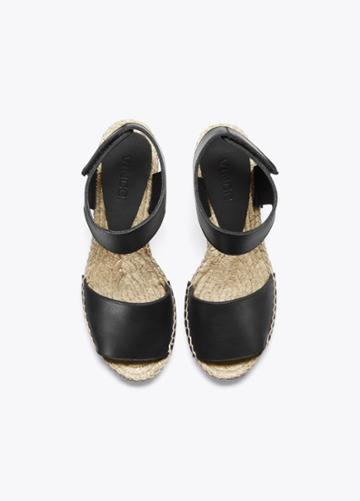 Vince Sophie Leather Espadrille Wedge