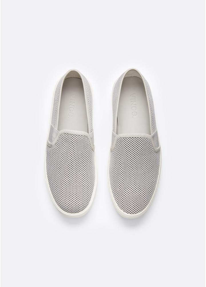 Vince Preston Mesh Sneaker With Leather Trim