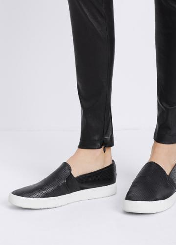Vince Leather Legging With Ankle Zip