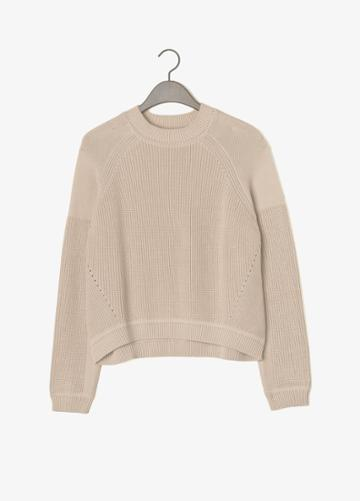 Vince Crew Neck Engineered Rib Sweater
