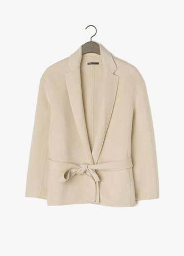 Vince Belted Wool Blend Jacket