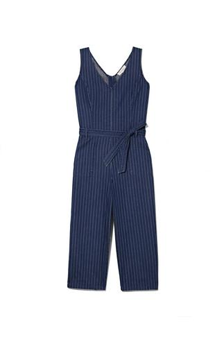 Two By Vince Camuto Denim Pinstriped Jumpsuit