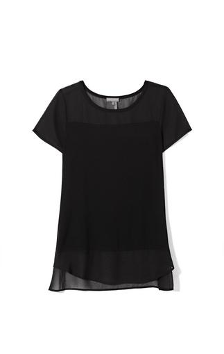 Vince Camuto Mixed-material Chiffon Top