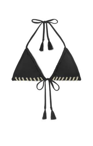 Vince Camuto Stitch-edge Bikini Top