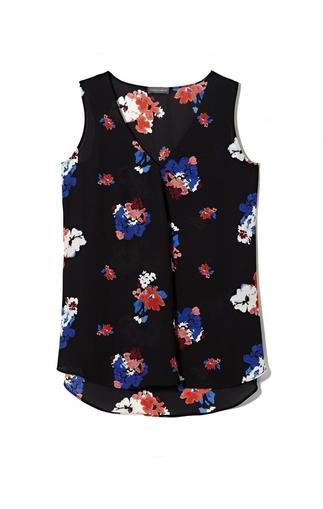 Vince Camuto Floral Center-drape Top